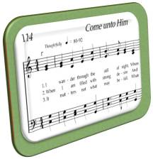 Sheet music for Hymn 114: Come Unto Him.