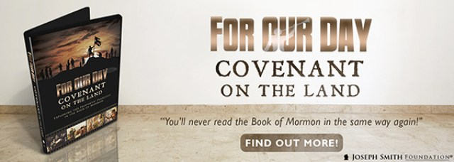 "Want to know about the covenant on the Promised Land of America? Watch ""For Our Day: Covenant on the Land""!"