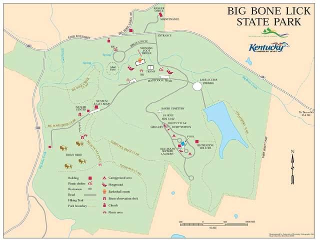 Big Bone Lick State Park map