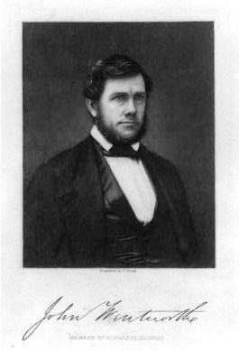 John Wentworth, editor of the Chicago Democrat