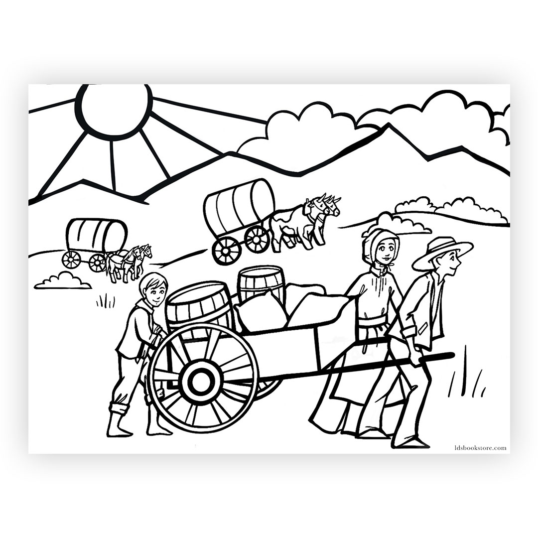 Cabin Pioneer Printable Pages Coloring Pages