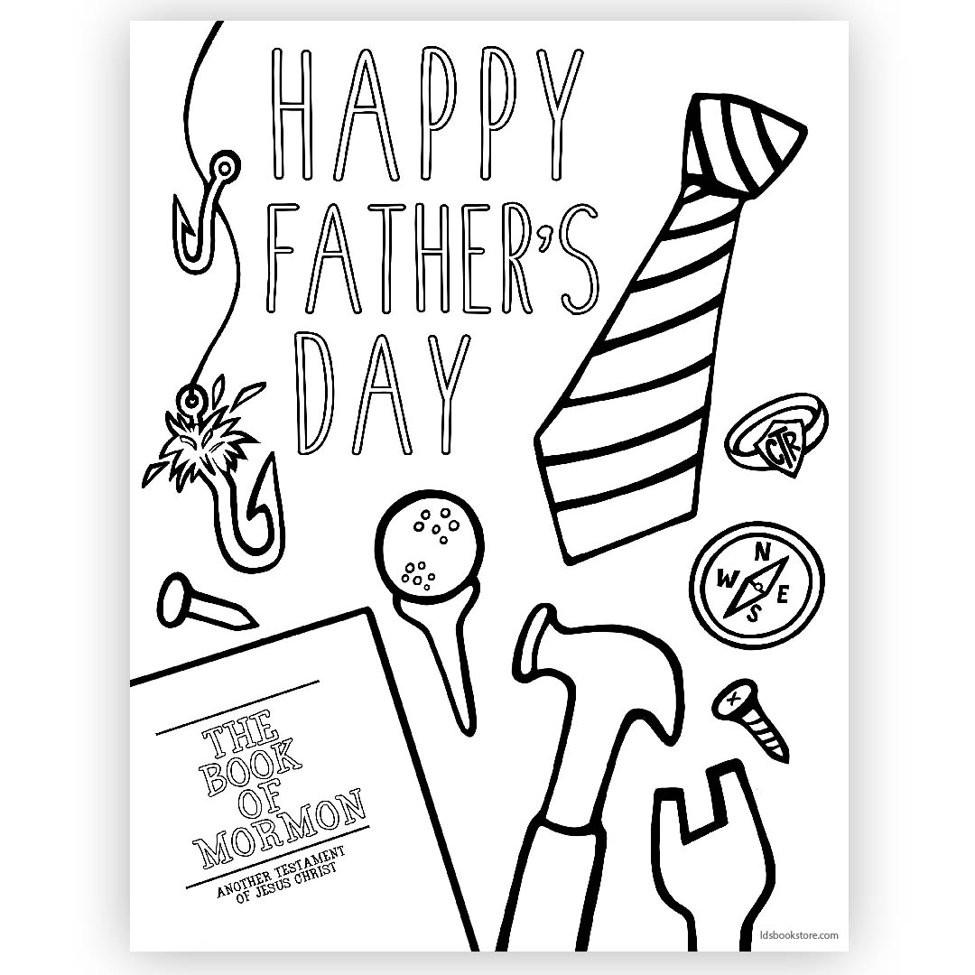 Happy Father S Day Coloring Page Printable