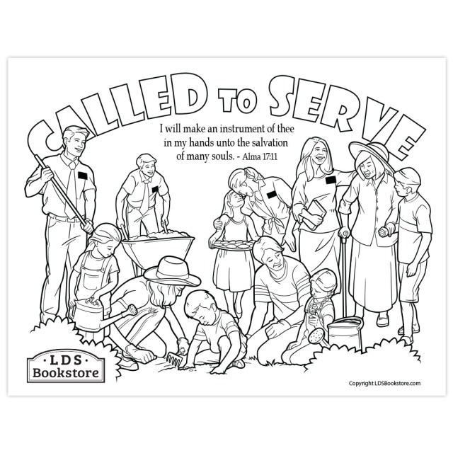 I Will Make an Instrument of Thee Book of Mormon Coloring Page