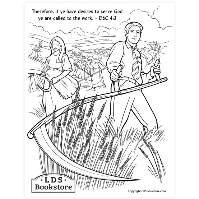 Ye Are Called to the Work Coloring Page - Printable  Doctrine and