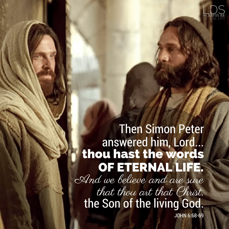 Then Simon Peter answered him, Lord, to whom shall we go? thou hast the words of eternal life. And we believe and are sure that thou art that Christ, the Son of the living God. John 6:68-69 ​