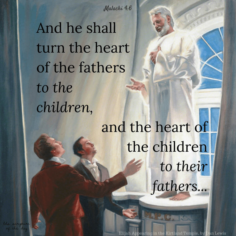 And he shall turn the heart of the fathers to the children, and the heart of the children to their fathers - Malachi 4:6