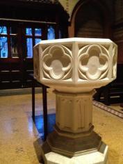 Baptismal font at the General Theological Seminary, New York. (Fr. Bob Solon, Jr.)