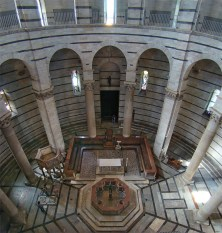 Toscana Pisa baptismal font