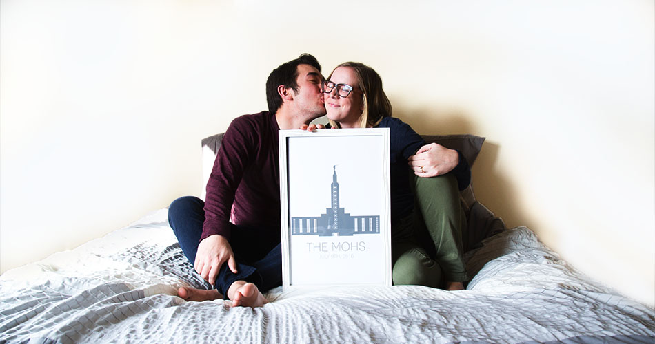 Personalized LDS Temple Posters