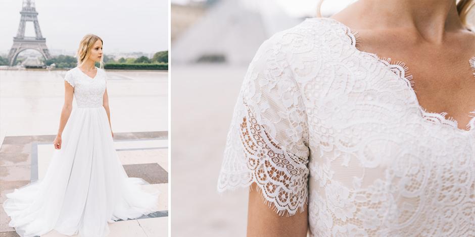 25 Modest Wedding Dresses With Short Sleeves Lds Wedding
