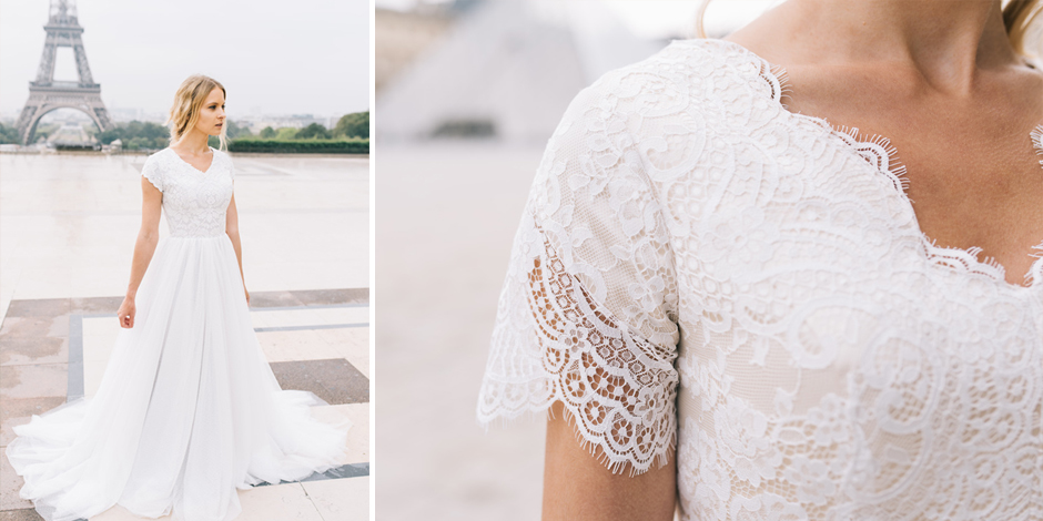 25 Modest Wedding Dresses with Short Sleeves