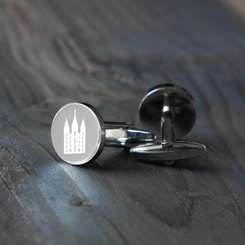 Temple Cufflinks - LDS Wedding Gifts
