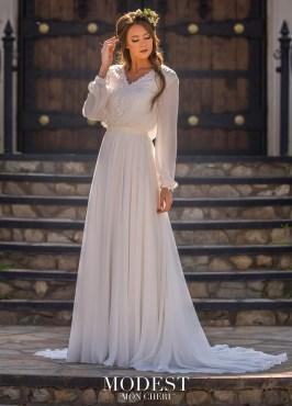 4 Modest Wedding Dress Designers - Mon Cheri