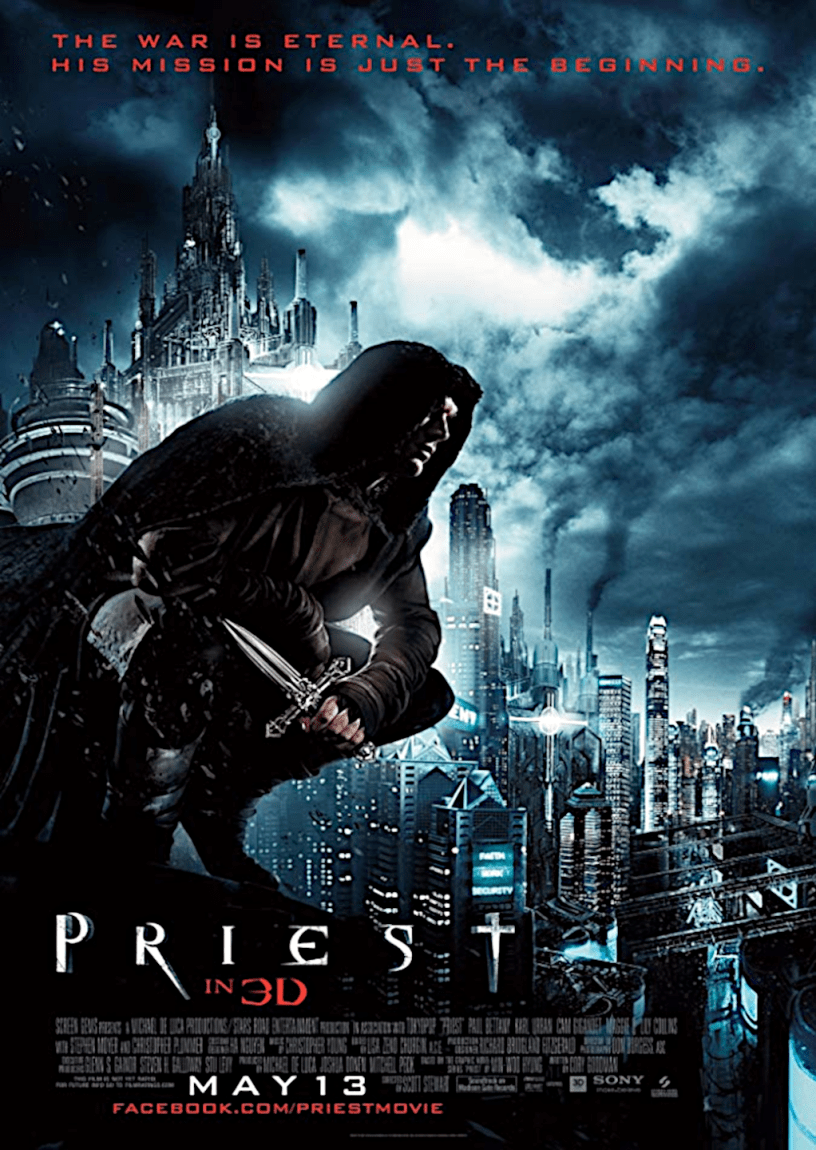 Movie poster for Priest 2011 ldwolff