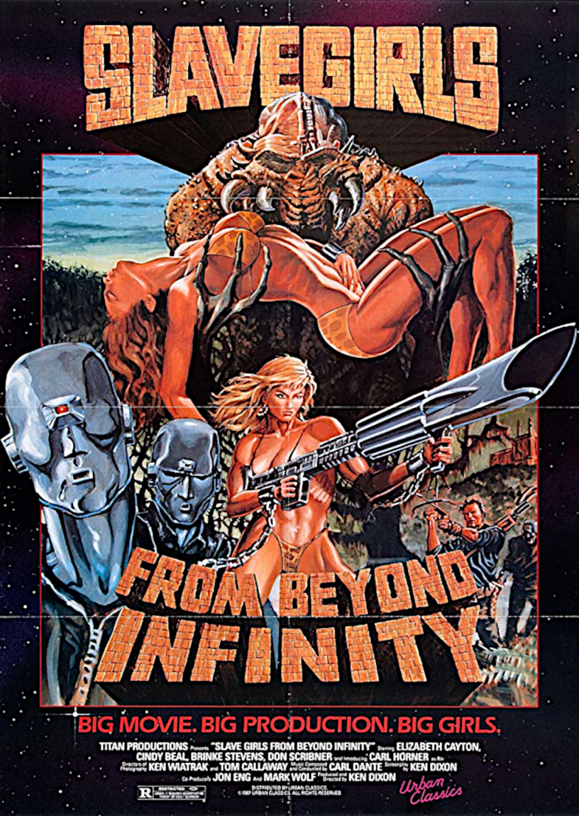 Movie poster for Slavegirls From Beyond Infinity 1987 ldwolff