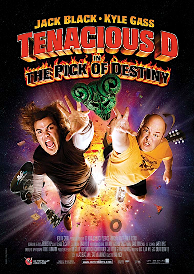Movie poster for Tenacious D in the Pick of Destiny 2006 ldwolff