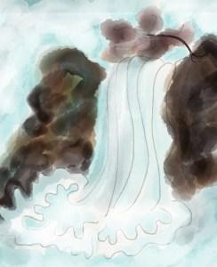 Le nageur des chutes de Lü-leang