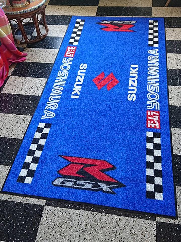 tapis de sol moto personnalise tapis de