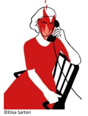 elisa Sartori Le téléphone