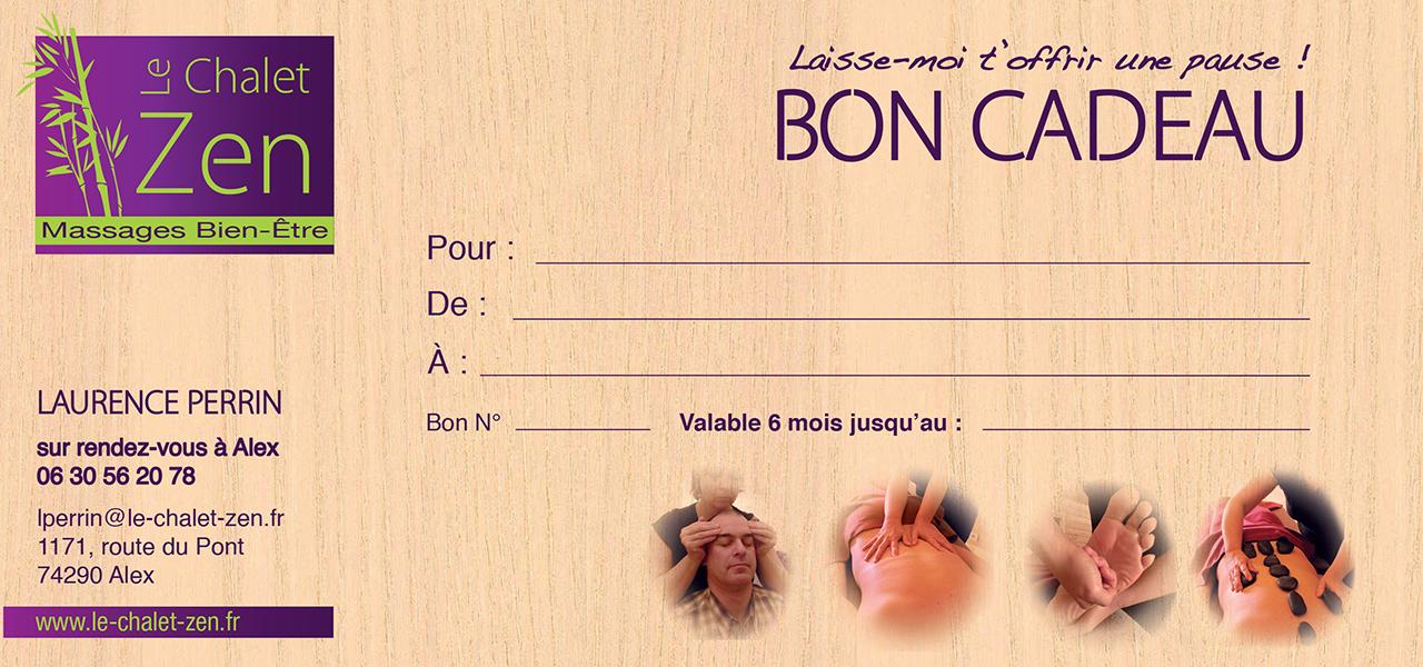 Bon Cadeau Le Chalet Zen