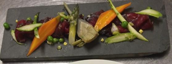 Salade folle de légumes et Gravelax de Thon Le Chalet Ax les Thermes