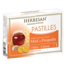 Pastilles Miel Propolis Citron - Herbesan