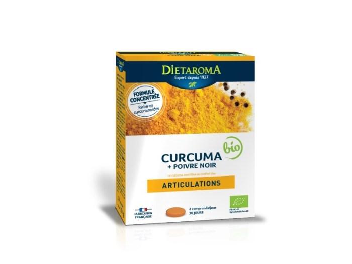 Curcuma + Poivre Noir bio (60 comprimés) - Dietaroma