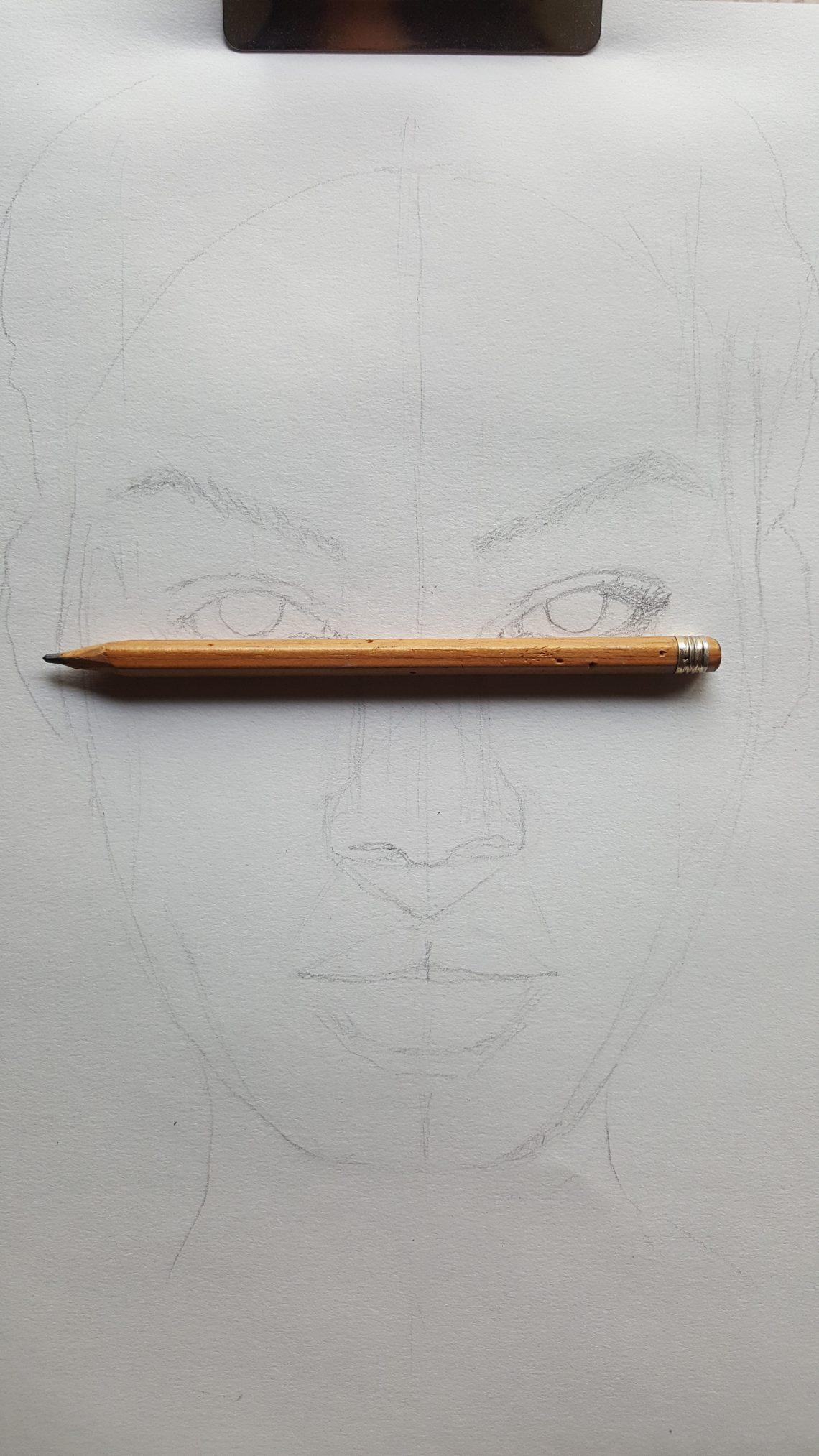 Portrait au crayon graphite