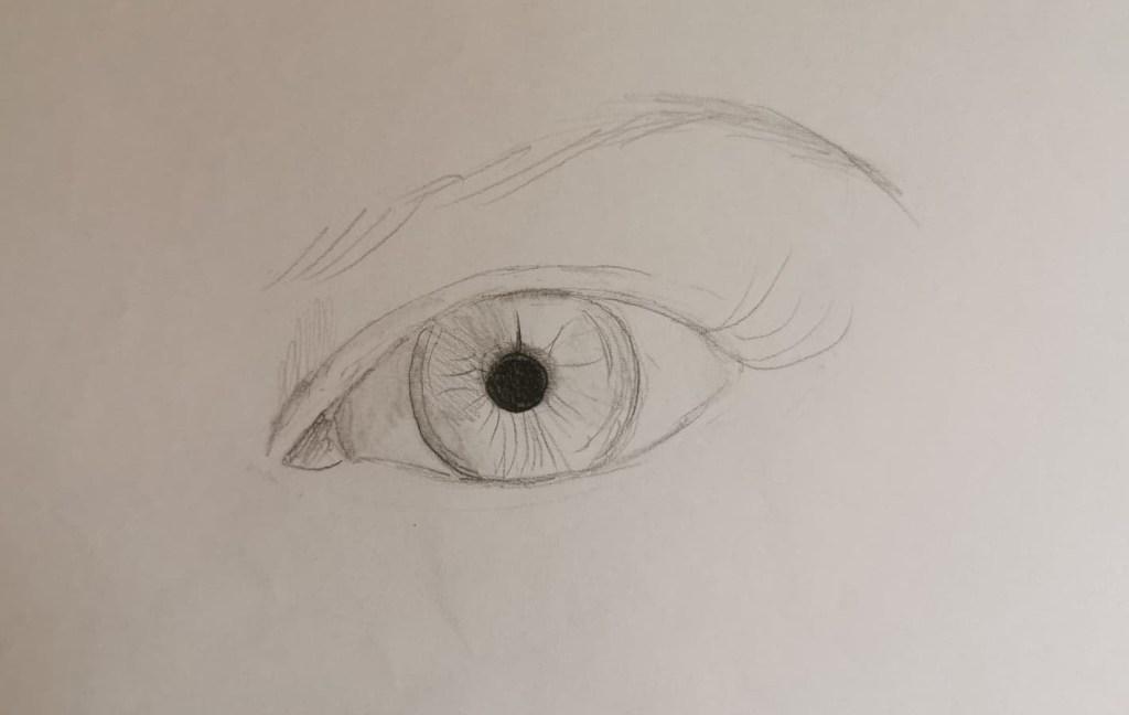 Esquisse de départ dessin oeil
