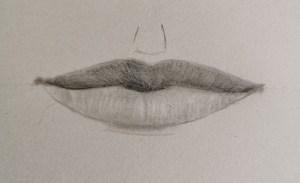 Mise en volume dessin bouche réaliste