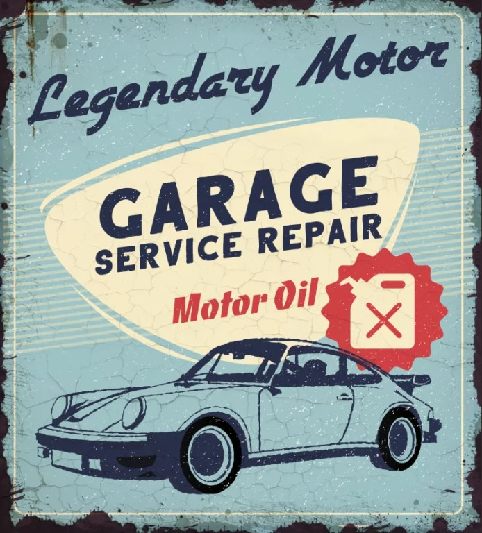 plaque garage service repair legendary