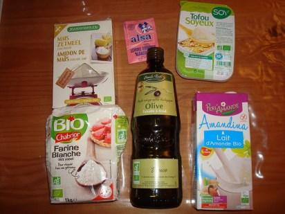 ingrédients crepes lait amande
