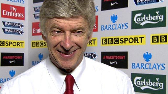 Wenger pulls this face before he goes to Tesco