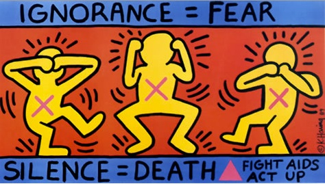 Keith Haring, AIDS 1