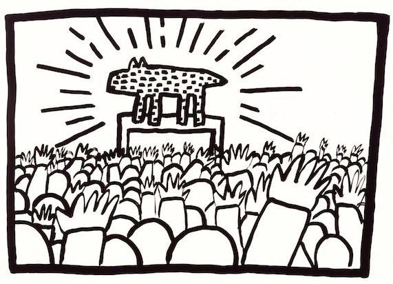 Keith Haring, barking dog 1