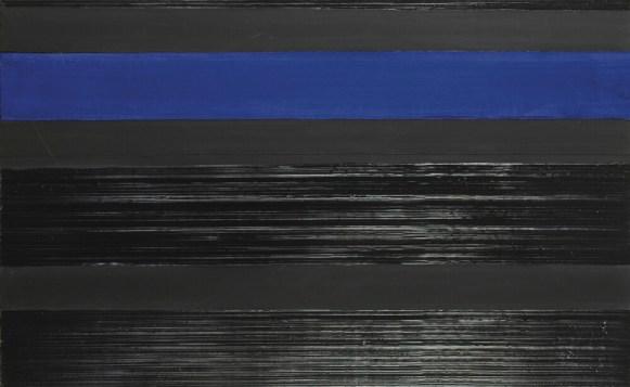 Pierre Soulage, peinture 81 x 130 cm, acrylique et collage de bandes de toile sur toile, 22.02.06 - Photo © Sotheby's