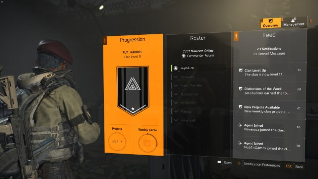 The Division 2 - Clan System
