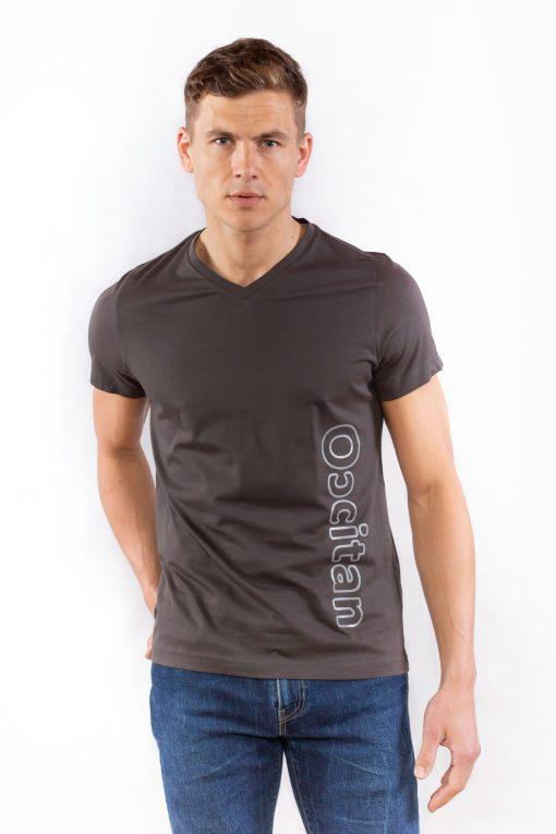 """Tee shirt occitan gris anthracite """"le polo occitan"""""""