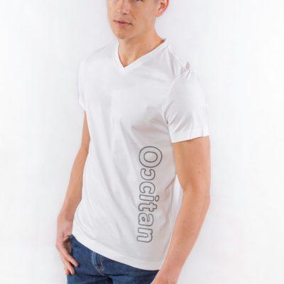 "Tee-shirt ""le polo occitan"" blanc homme"