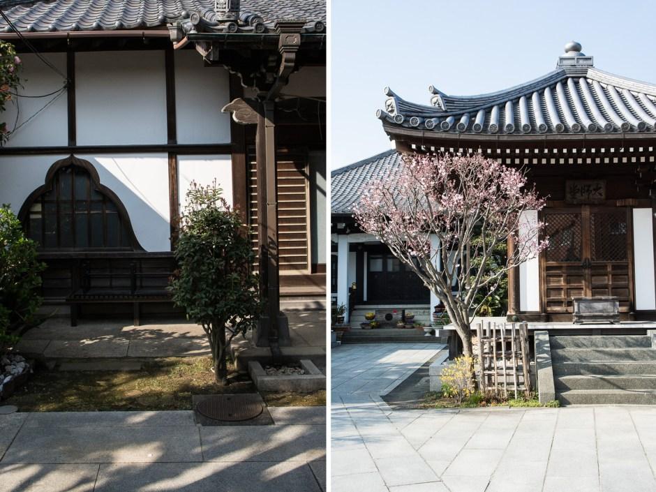 temple dans le quartier de Yanaka à Tokyo