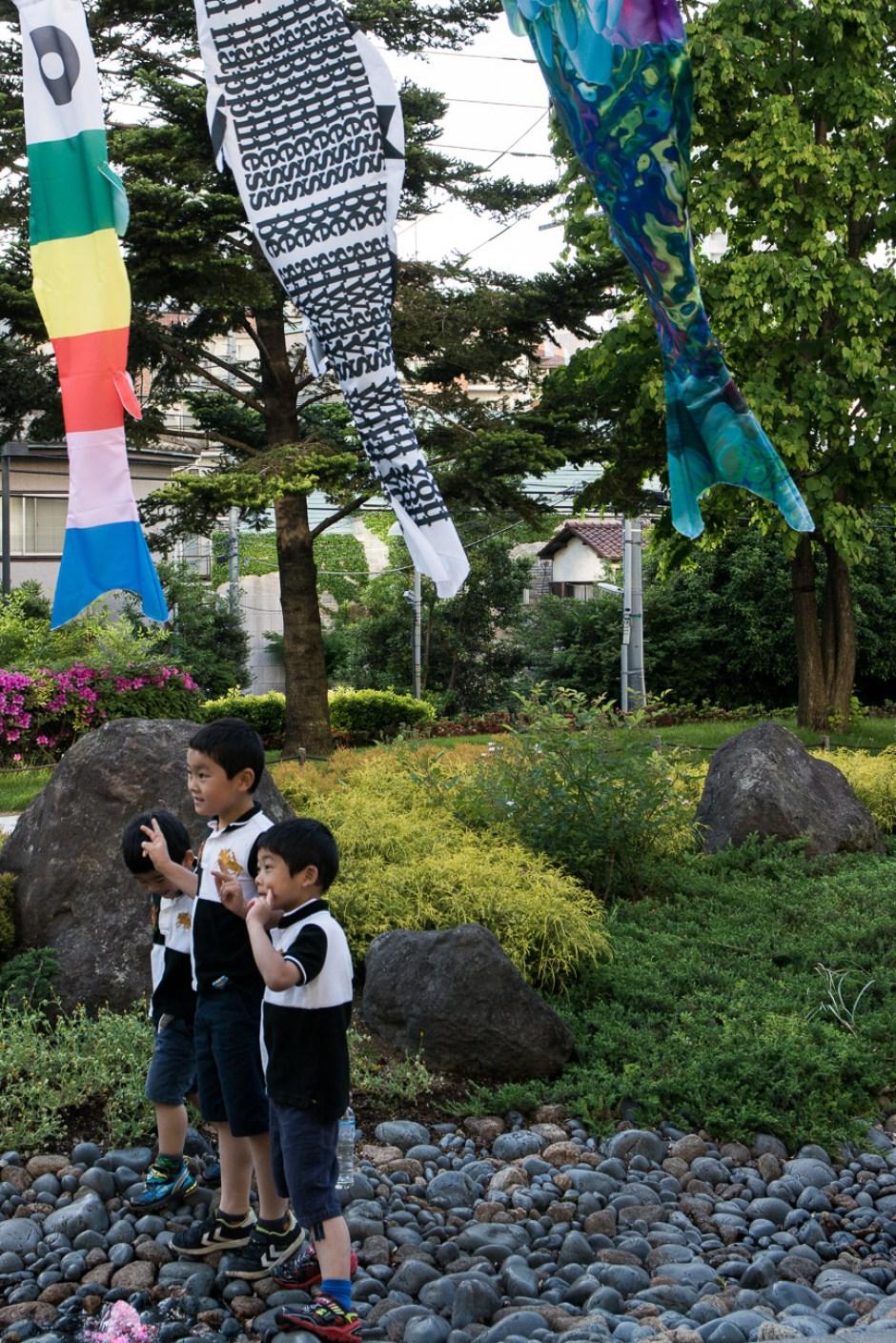 les carpes koinobori à Roppongi pour la fête des enfants le Kodomo No Hi à Tokyo