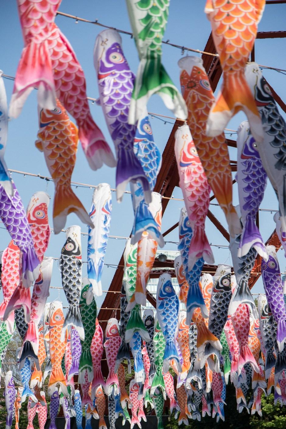 les carpes koinobori à la Tokyo Tower pour la fête des enfants le Kodomo No Hi à Tokyo
