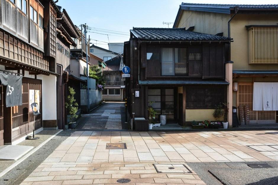 le quartier Higashu-Chaya-Gai, le quartier des geishas à Kanazawa dans les Alpes japonaises