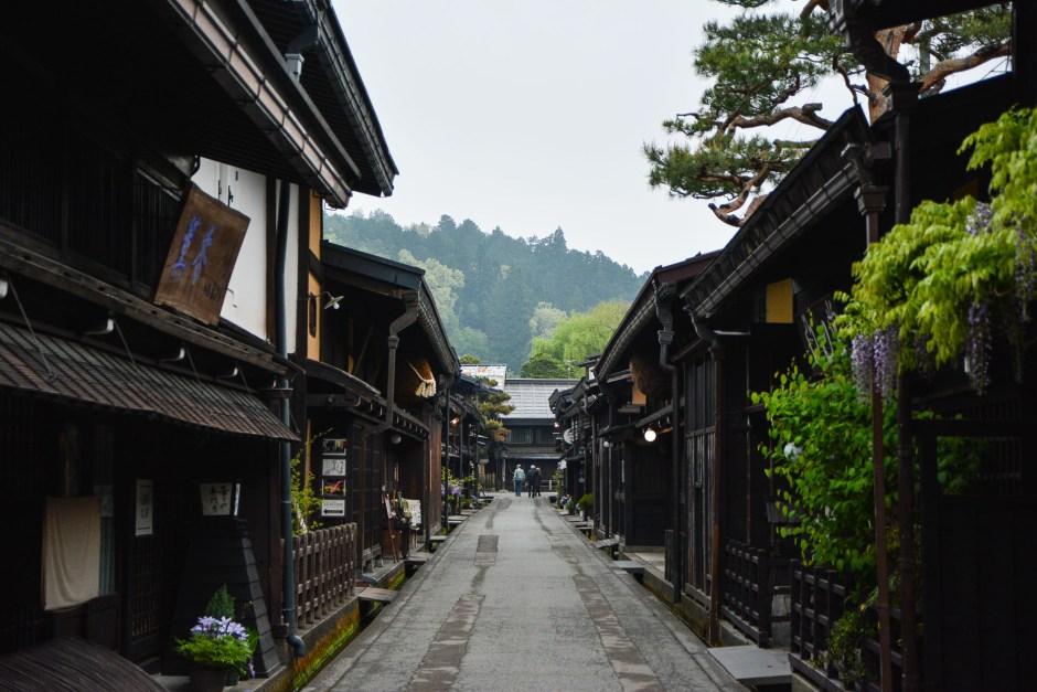 Le quartier Sanmachi-suji à Takayama dans les alpes Japonaises,Japon