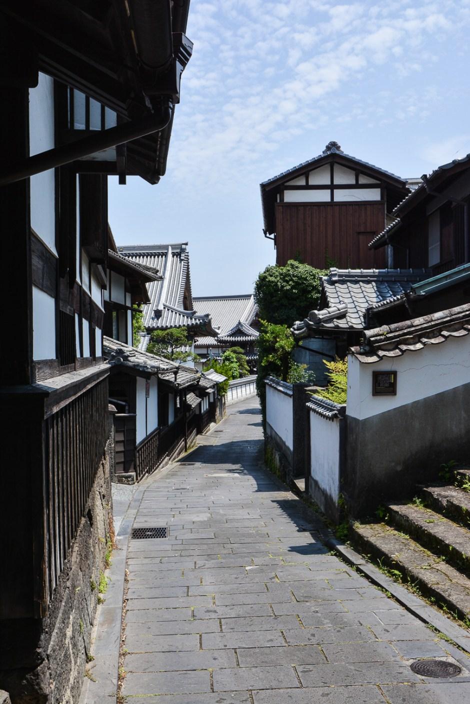 le village de samourai d'Usuki,dans la préfécture d'Oita à Kyushu au Japon