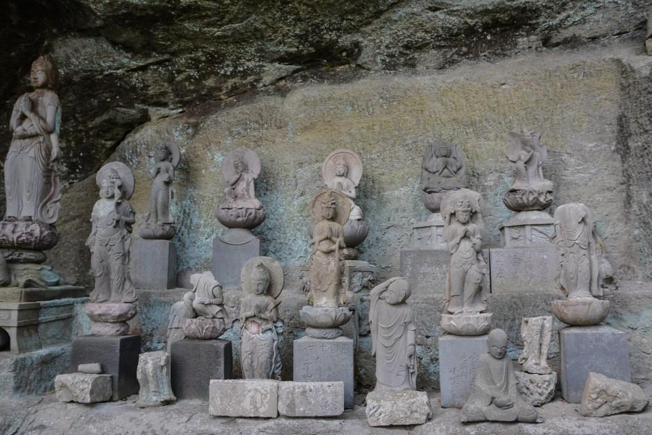 Le grand buddha au temple Nihonji à Nokogiriyama dans la prefecture de Chiba au Japon