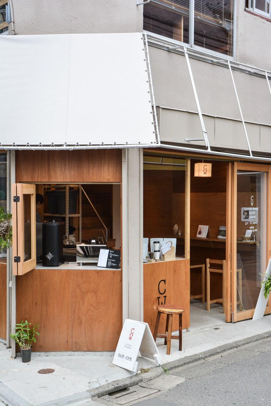 le coffeeshop coffee wrights à tokyo au Japon