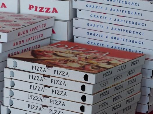 boîtes de pizzas