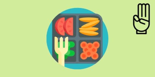 composition des repas dans un rééquilibrage alimentaire