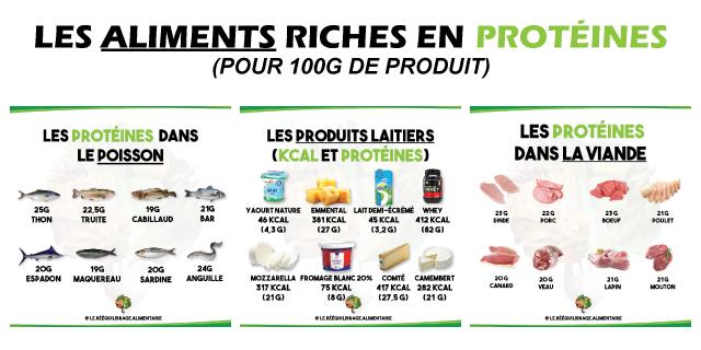 Les aliments riches en protéines